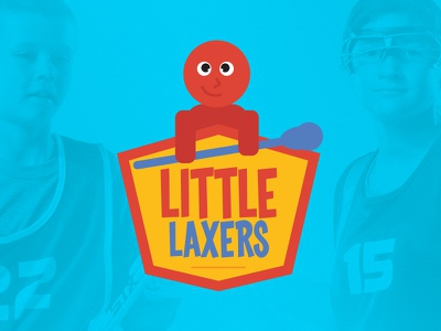 Little Laxers logo for 3d Lacrosse sports design children kids illustration cartoon sports logo lacrosse