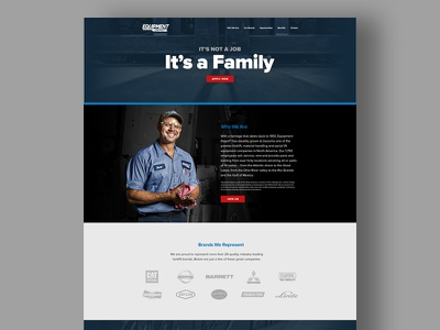 Equipment Depot Careers Landing Page digital design art direction equipment depot landing page ux user interface ui web design visual design