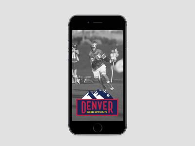 2016 Denver Shootout Snapchat Geofilter logos sports lacrosse denver mountains geotag illustration snapchat geofilter
