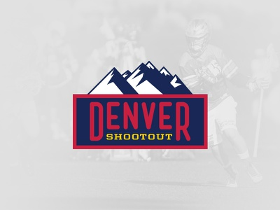 2016 Denver Shootout Snapchat Geofilter logos sports lacrosse denver mountains geotag illustration snapchat geofilter