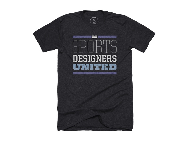 """Sports Designers United"" typeface shirt house industries fonts united cotton bureau hoodies t-shirts typography sports branding sports design athletics sports"