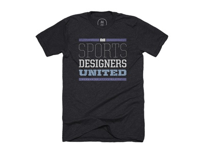 """Sports Designers United"" typeface shirt"