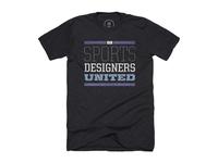 """""""Sports Designers United"""" typeface shirt"""
