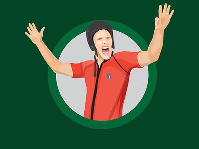 Player Illustrations for the PGA Tour iOS Keyboard App ios sticker emoji fish vector adobe illustrator stickers illustration golf golfer