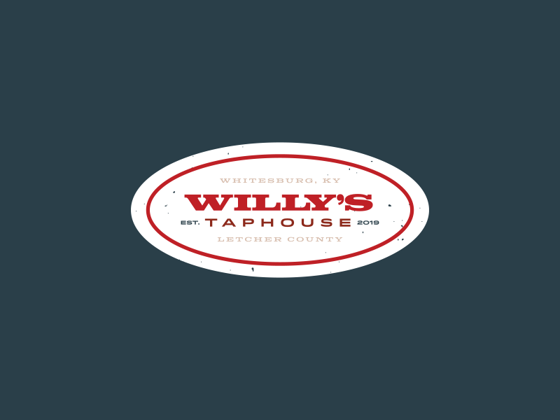 Willy's Taphouse Logo v2 kentucky taproom taphouse brewery beer identity logo