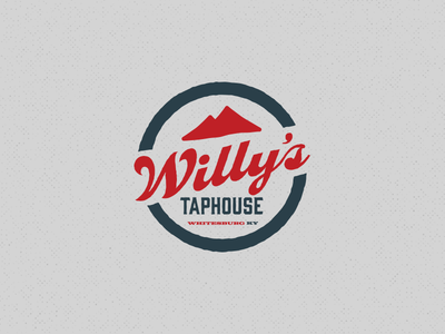 Willy's Taphouse Logo roundel mountains taphouse brewery bar kentucky identity logo