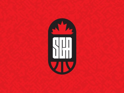 SGA Basketball Logo monogram lettermark canada identity sports design sports marketing basketball sports branding logo