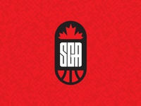SGA Basketball Logo monogram lettermark canada identity sports design sports marketing basketball sports branding logo