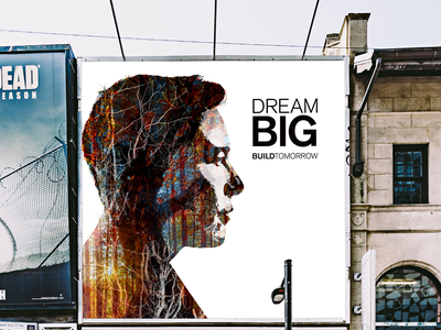 Dream Big concept brand and identity outdoor