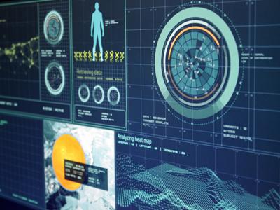 Screen interface screen interface ui design concept futuristic visual design 3d animated info graphics