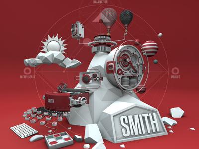 Smith Poster 3d cinema 4d motion design graphics poster