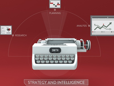 Strategy section motion graphics cinema 4d 3d design icon info graphic