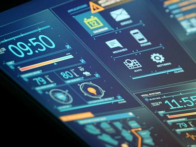 FUI personal assistance_2 design ux fui interface ui