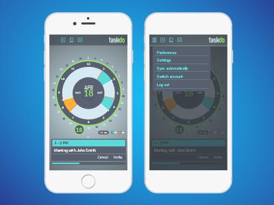 TaskDo interactive mobile user interface interface graphics graphic design ui
