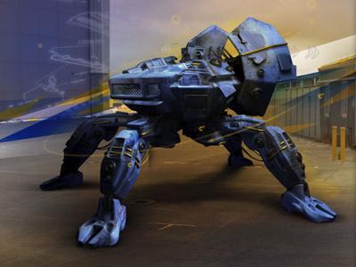 Mech machine print ad mech robot character 3d design