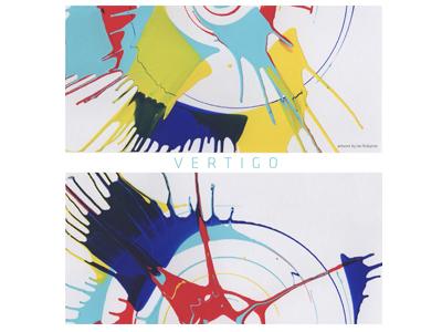 Vertigo splash paint contemporary design abstract poster