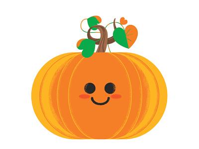 Happy Thanksgiving! digital art autumn texture orange thanksgiving character illustration pumpkin