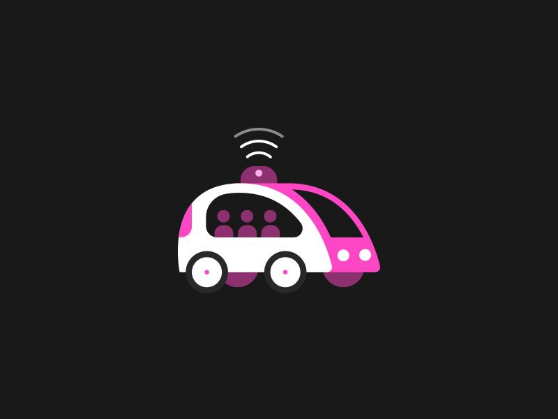 Vroom vroom! self-driving car wireless van icon illustration autonomous car