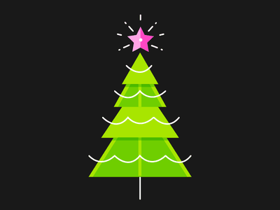 It's coming... icon illustration flat tree winter holidays shining wip christmas tree star christmas