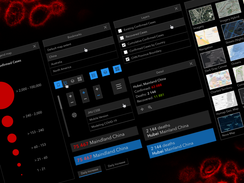 2019-nCov Dashboard dashboard coronavirus data visualization data website webdesign web virus ux ui science medical interface freebie free figma design system