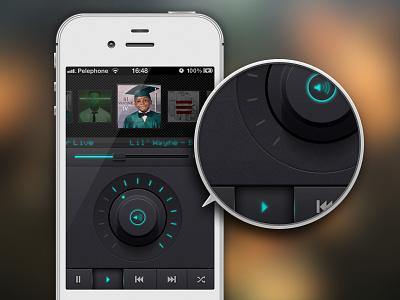 Music app ui iphone music interface app ios mobile dark debut