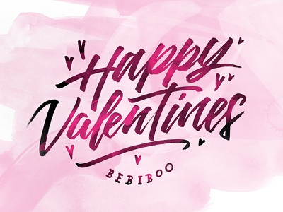 Valentines valentines brushpen hand type logotype typography hand lettering