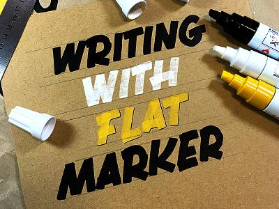 Chisel Tip Marker flat tip calligraphy lettering typography paint marker chisel pen marker