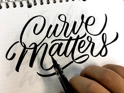 [WIP] Curve matters type letters calligraphy typography brush lettering
