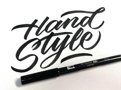 Hand Style typeface font brush brushpen tombow handlettering lettering