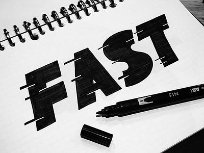 Fast black typeface logo foundry type logotype speed blocks lettering