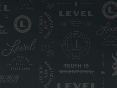 LEVEL Branding Pattern
