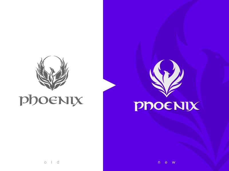 Redesign Phoenix - Hookah/Club Bar club germany phoenix animal compare new old mark simple logo illustration redesign. redesign simplify simplicity alcohol party bar shisha hookah