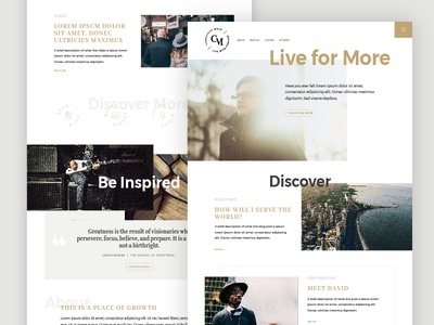 Conscious Male ::  Homepage Variation community collection modern wellness purpose blog lifestyle conscious homepage ux ui web design