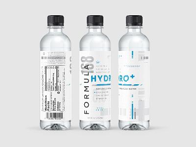 Formula168 :: White Bottle Design glitch hydrate water sexy pattern branding print label bottle packaging