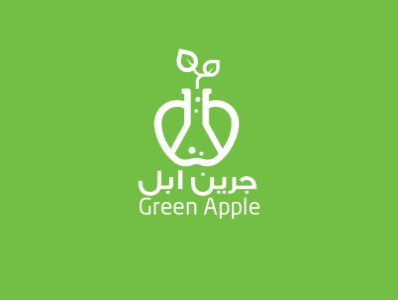 green apple fertilizer chimecal agriculture icon logo logo design green apple