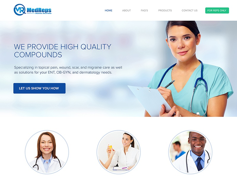 Medreps Shots medical website