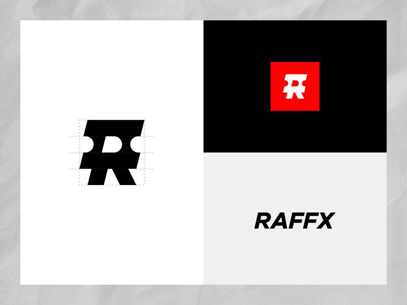 RAFFX - branding urban design identity design minimal logo design branding logo