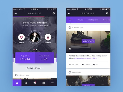 Weekly Layup #9 - Voicey Profile Page feed ios voice app dashboard home profile page ui mobile