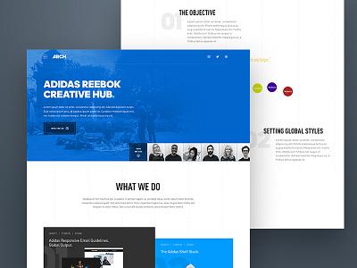 Weekly Layup #13 - Landingpage [WIP] ux ui web design minimal reebok adidas landing team