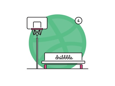Weekly layup #18 - 4 Invites! practise invites illustration invite dribbble