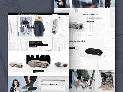 Adidas Tubular Landing Page experience brand shop e-commerce responsive landingpage tubular adidas