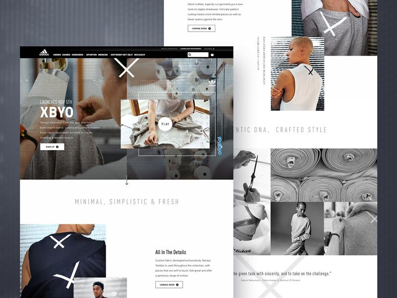 Adidas XBYO landingpage followilko e-commerce campaign branding responsive desktop mobile landingpage adidas