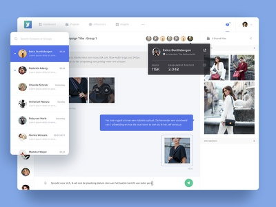 Voicey - Messenger collaborate inbox messages share backend saas tool marketing influencer app chat messenger