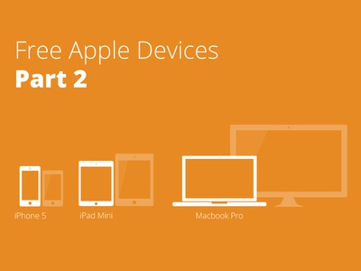 Apple Devices part 2 mobile responsive device apple devices free iphone 5 ipad mini macbook pro vector illustrator icons minimal freebie followilko