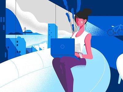 Lady animation