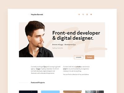 Hello Dribbble debut design website portfolio