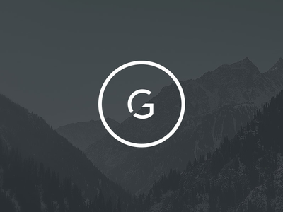 Gunmetal branding white mountains mark logo studio