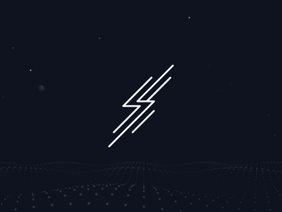 Surge dark lightning mark logo branding