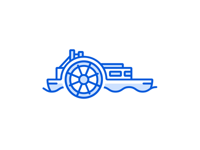 Tank Stream Ventures paddlesteamer ship boat blue mark logo venture capital