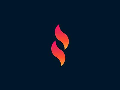 Igniter gradient fire dark branding mark logo
